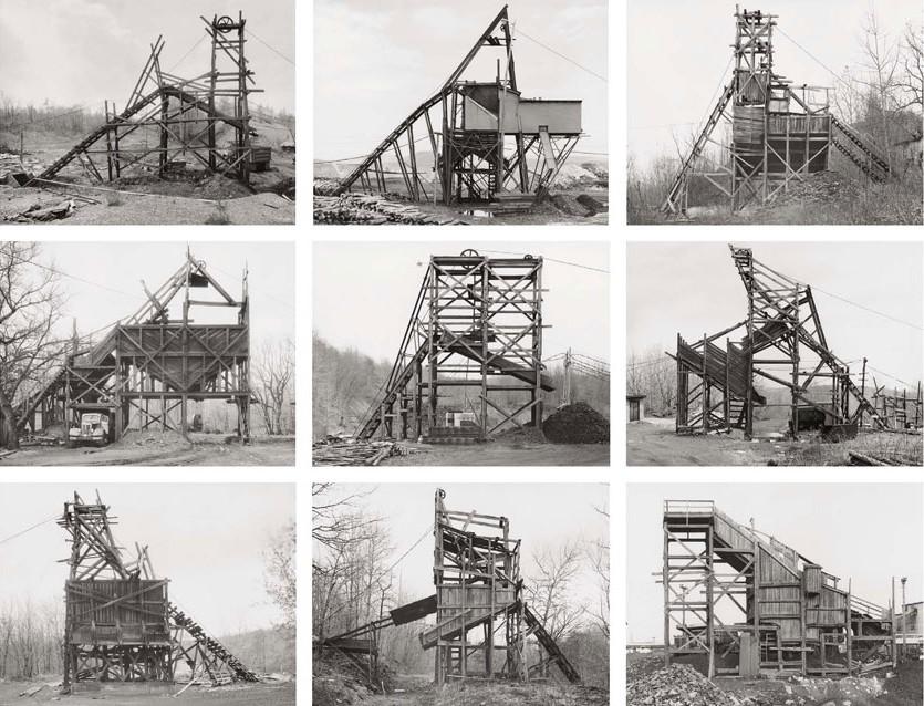 Bernd & Hilla Becher Pennsylvania Coal Mine Tipples
