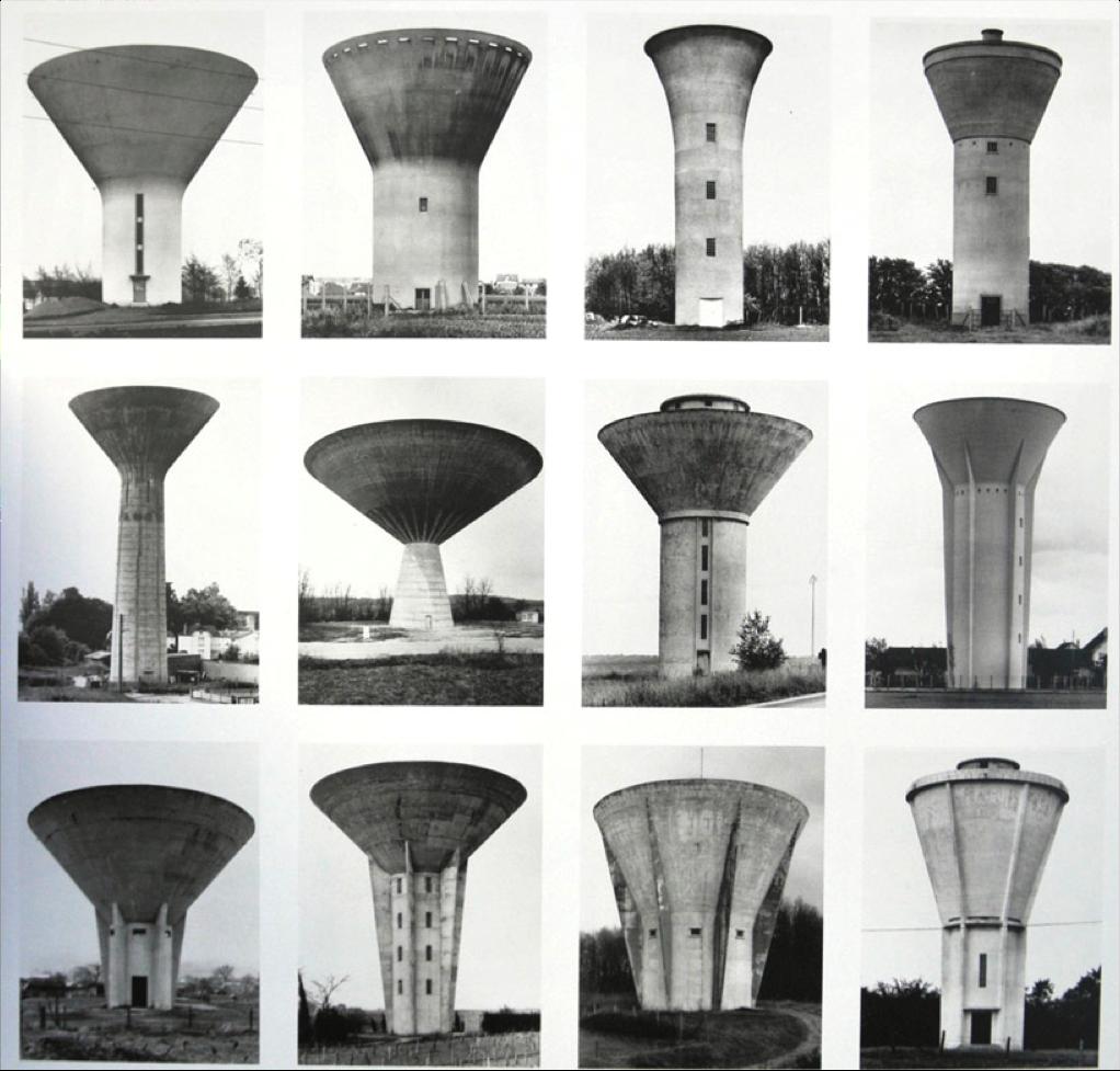 Bernd & Hilla Becher watertorens